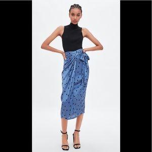 Zara Satin Wrap Skirt